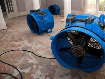 Emergency smoke and water damage cleanup